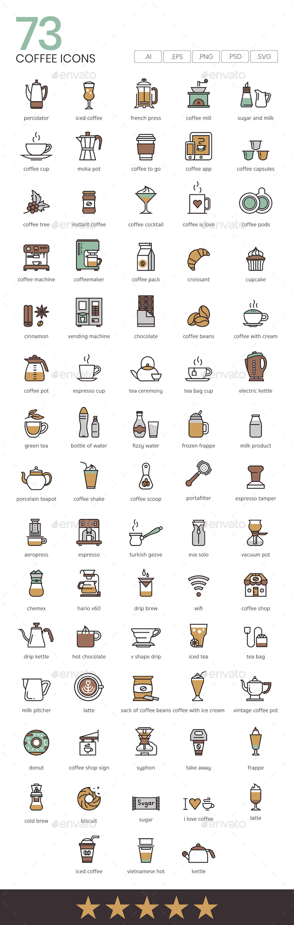 GraphicRiver Coffee Icons 21025519