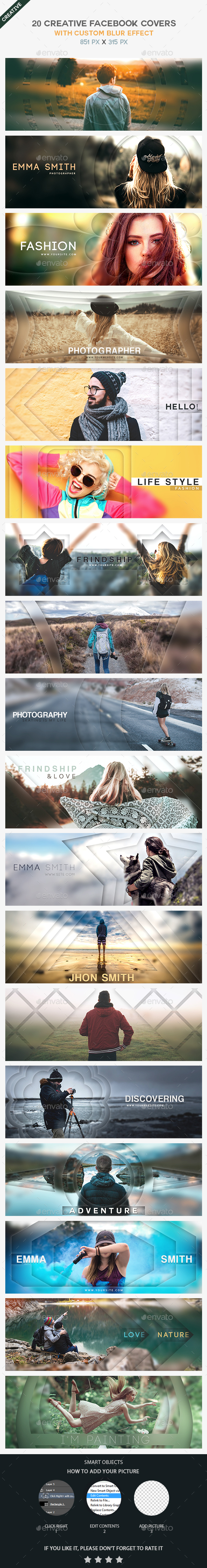 GraphicRiver 20 Creative Blurry Facebook Covers 21025529