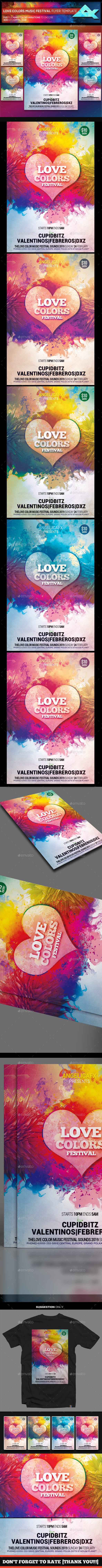 GraphicRiver Love Colors Music Festival Flyer Template 21025543