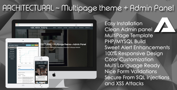 CodeCanyon ARCHITECTURAL ~ Multipage theme & Admin Panel 20968597