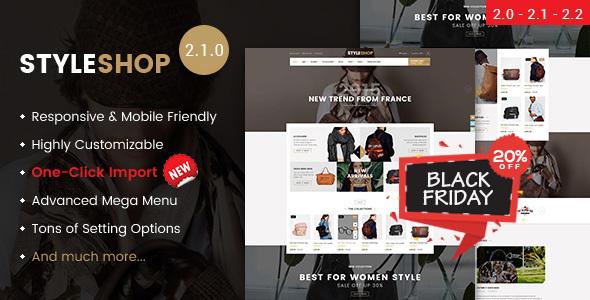 Styleshop - Responsive Multipurpose Magento 2.2.x Theme - Shopping Magento