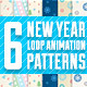 6 New Year & Christmas Patterns (Backgrounds) - VideoHive Item for Sale