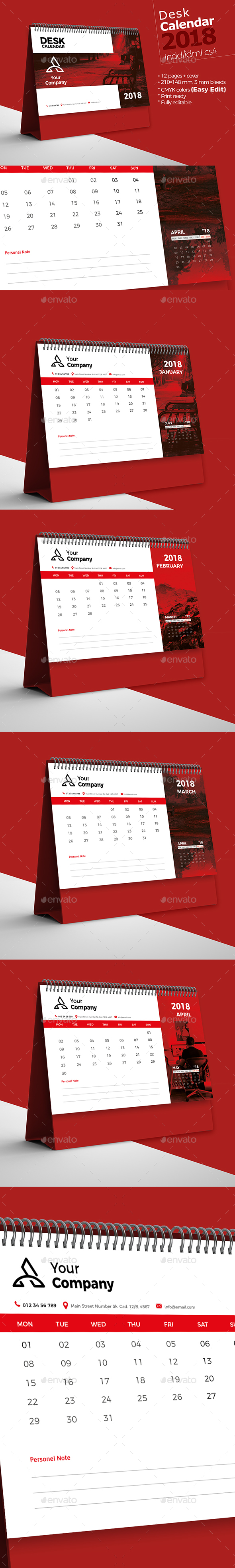 GraphicRiver Desk Calendar 2018 21025842