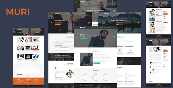 Download MURI- One Page Portfolio Template            nulled nulled version