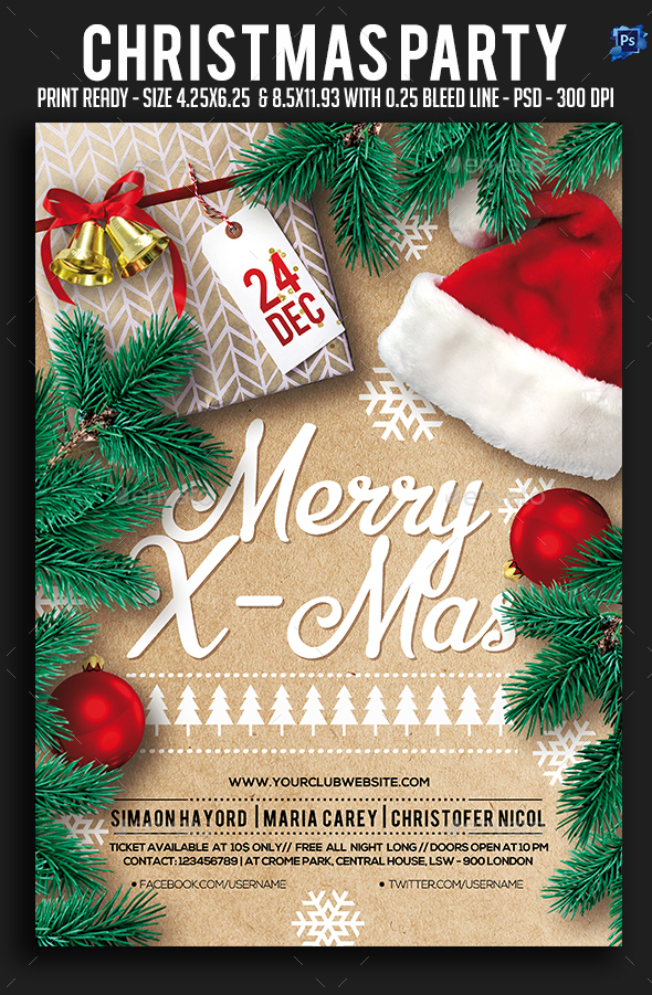 GraphicRiver Christmas Party Flyer 21025948