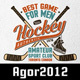 Retro Hockey Emblems - GraphicRiver Item for Sale