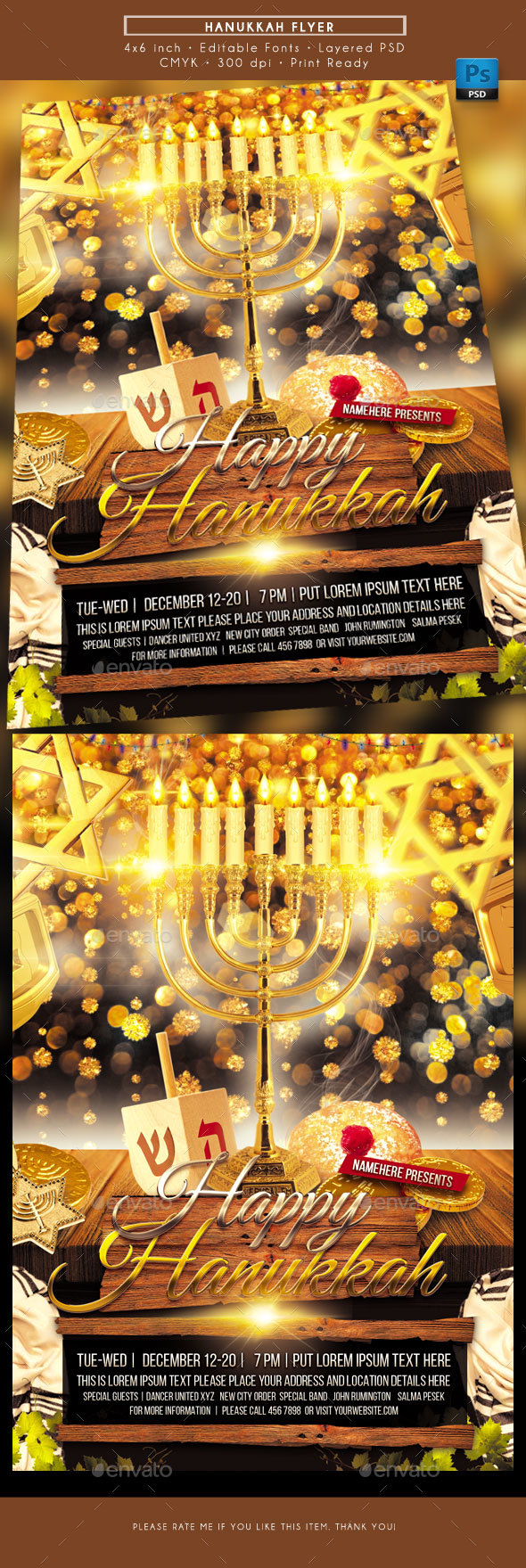GraphicRiver Hanukkah Flyer 21026080
