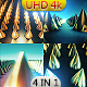 4k Golden spikes - VideoHive Item for Sale
