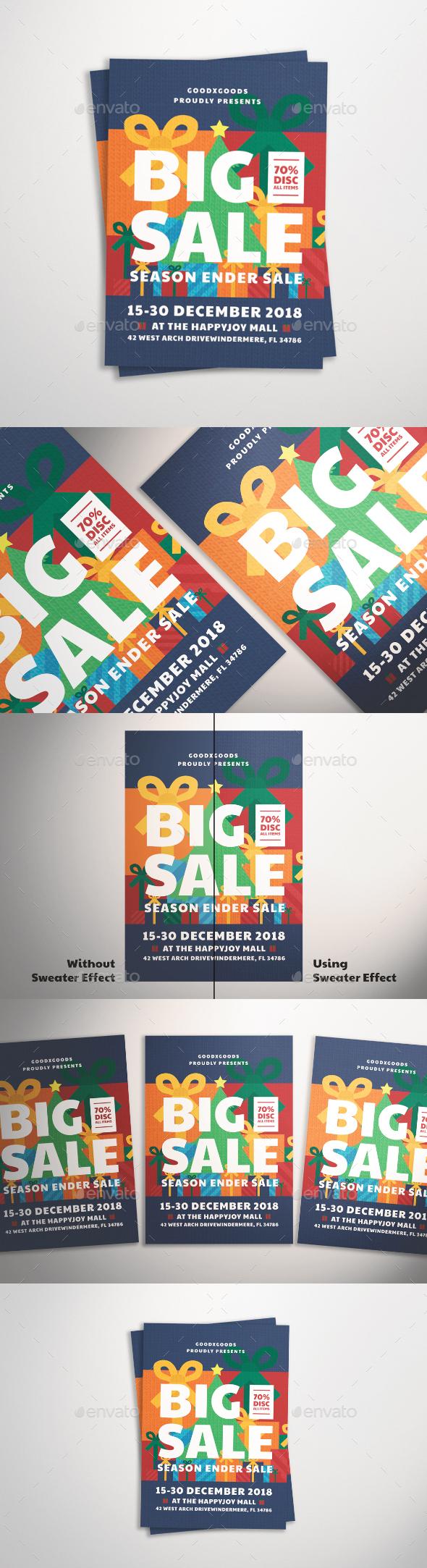 GraphicRiver Christmas Sale Flyer 21026263