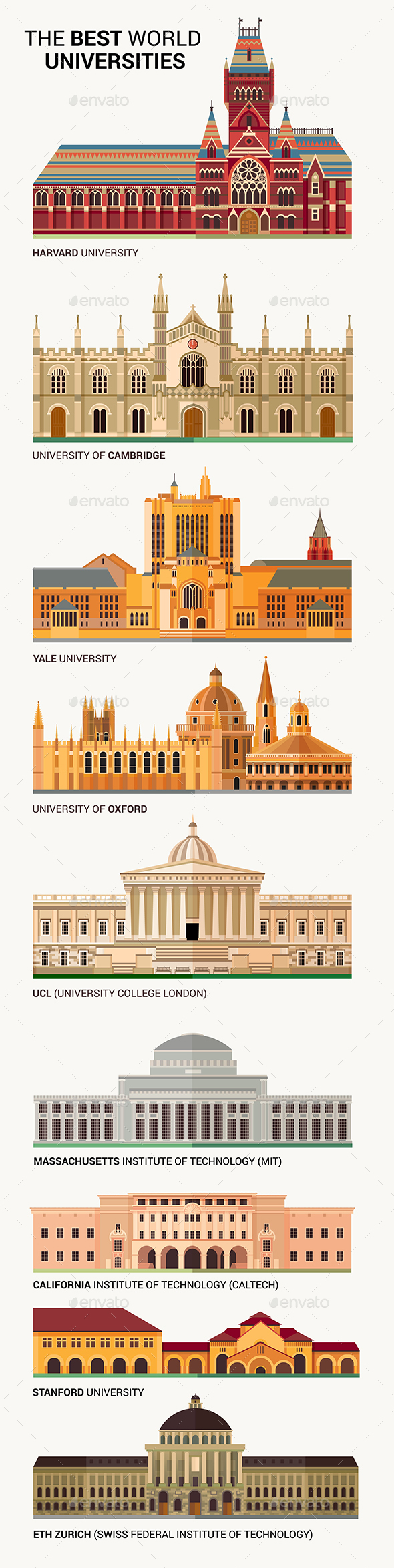 GraphicRiver The Best World National Universities Icons 21026282