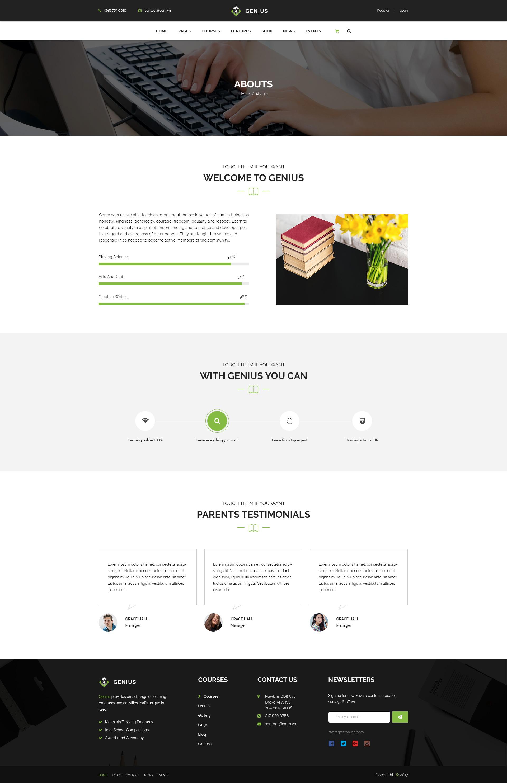 Genius Education Psd Template By Vythemes Themeforest
