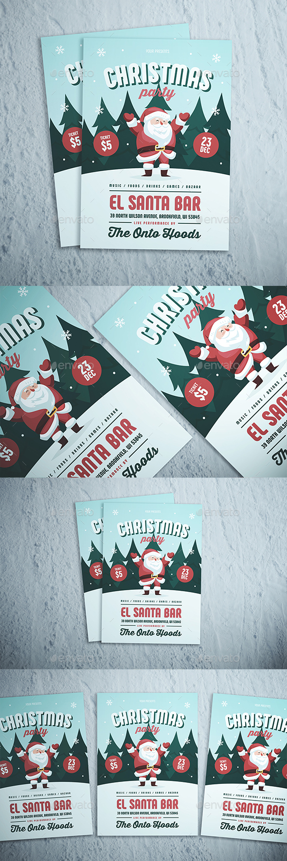 GraphicRiver Christmas Party Flyer 21026443