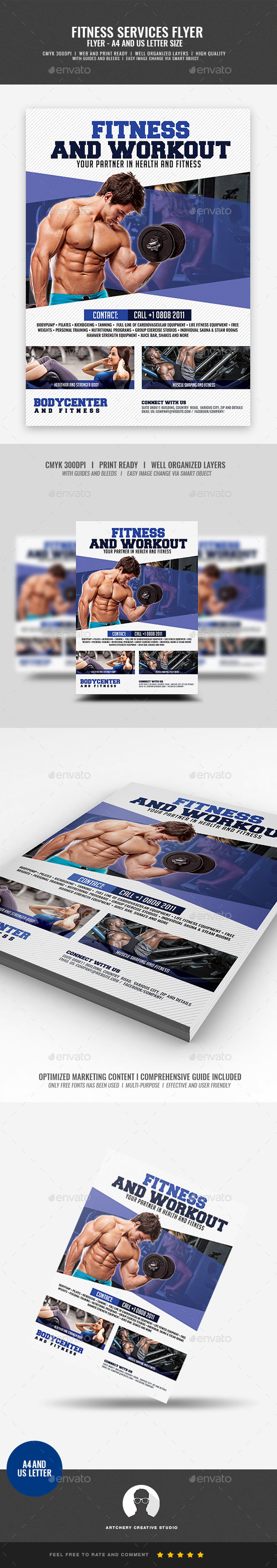 GraphicRiver Gym and Sports Flyer 21026492