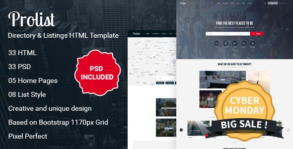 Prolist - Directory & Listings HTML Template