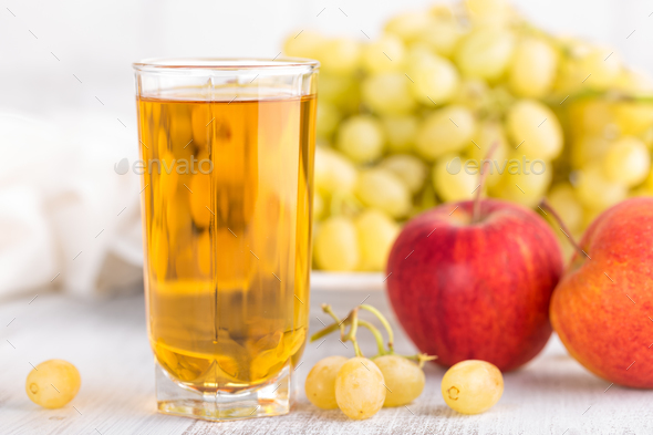 Grape and apple juice - Stock Photo - Images