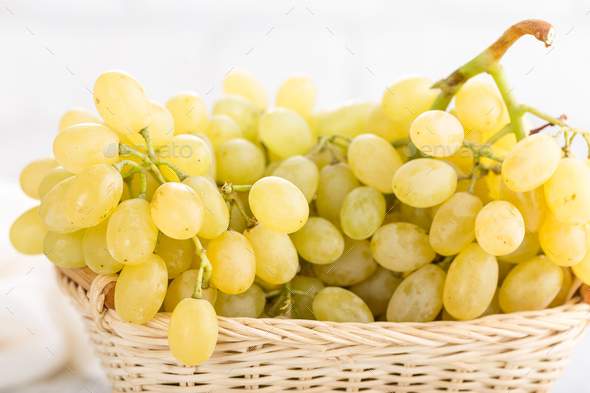 Grape on white background - Stock Photo - Images