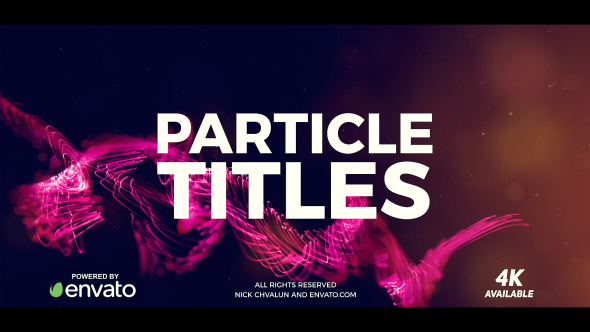 VideoHive Particle Titles 21026585