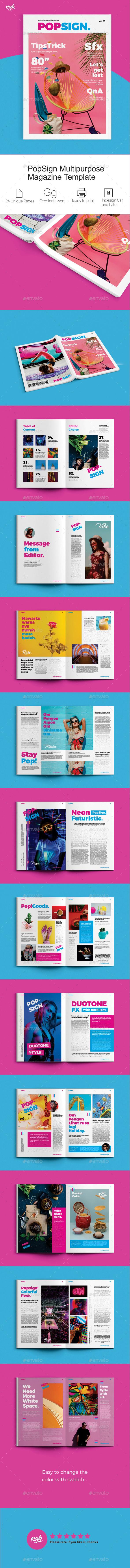 Popsign Multipurpose Magazine - Magazines Print Templates