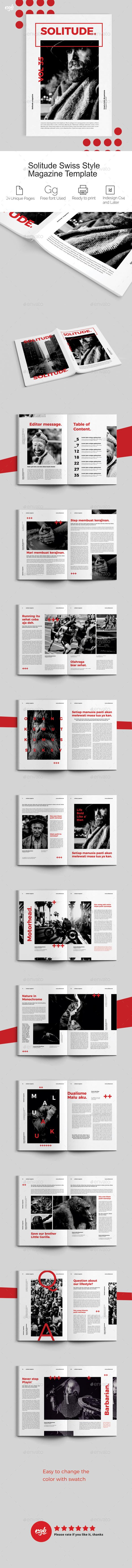 Swiss Style Magazine - Magazines Print Templates