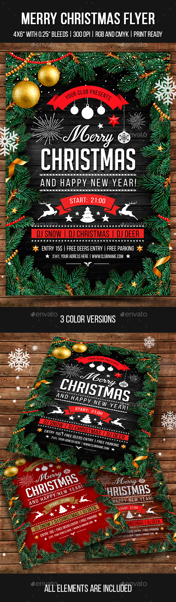 GraphicRiver Merry Christmas Flyer 21026620