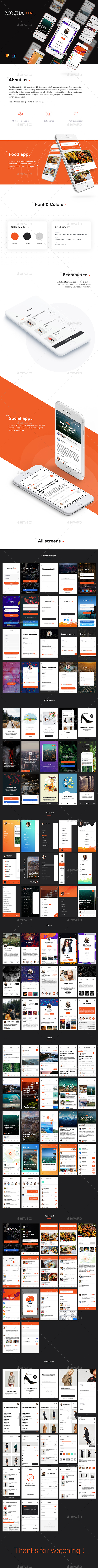 GraphicRiver Mocha Mobile UI Kit 21026645