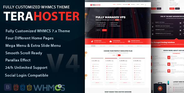 TeraHoster - Professional Hosting Template with WHMCS