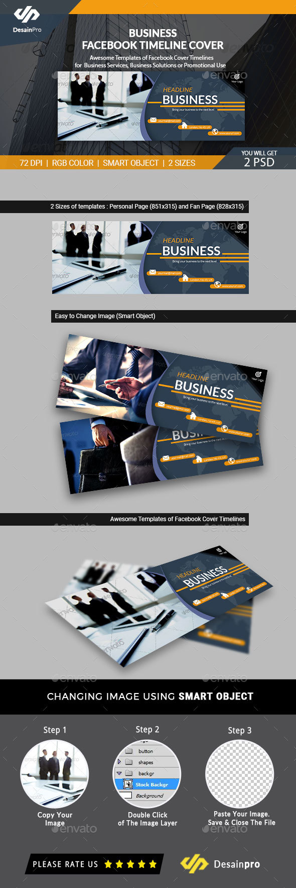 GraphicRiver Business Facebook Cover Timeline AR 21026679