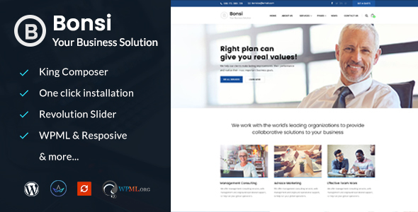 Image of Bonsi - Business Consulting WordPress Theme