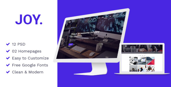 Joy | Creative Agency PSD Template Free Download | Nulled
