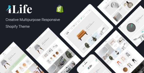 ThemeForest JMS 4Life Creative Multipurpose Responsive Shopify Theme 21027046