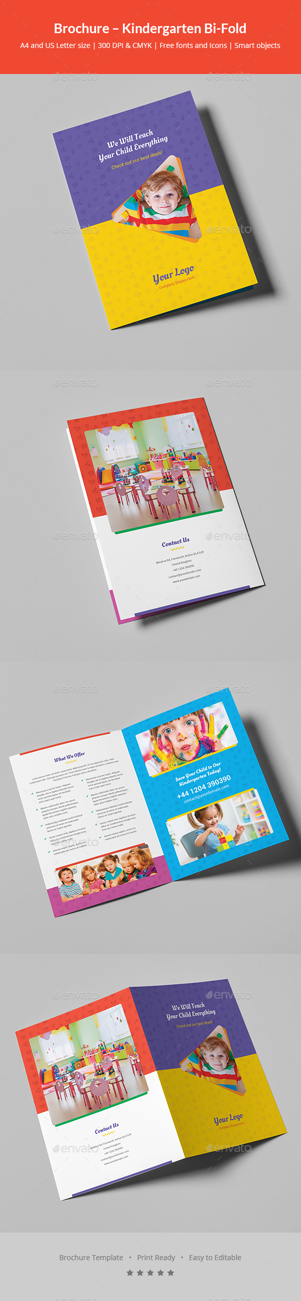 GraphicRiver Brochure Kindergarten Bi-Fold 21027328