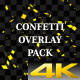 Gold Confetti Overlay Pack - VideoHive Item for Sale