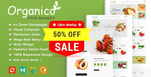 Organico - Fresh Fruits Responsive WooCommerce WordPress Theme
