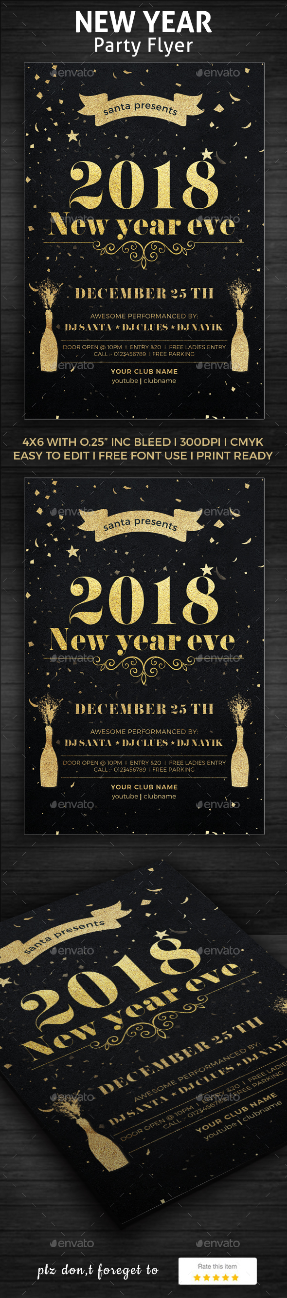 GraphicRiver 2018 New Year Party Poster 21002522