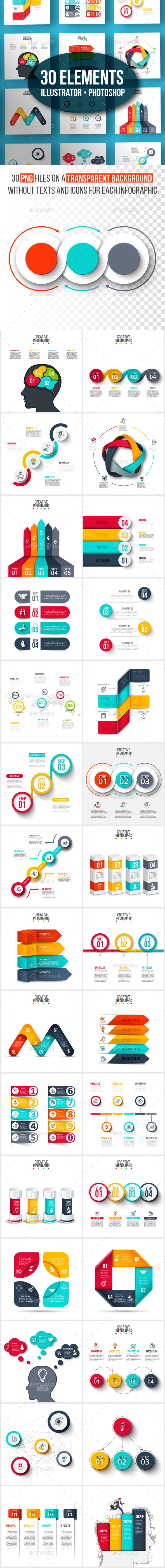Creative infographic pack v.03 - Infographics