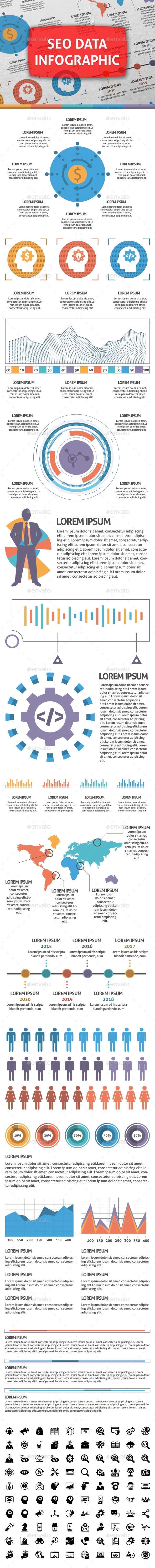 Seo Data Infographic Elements - Infographics