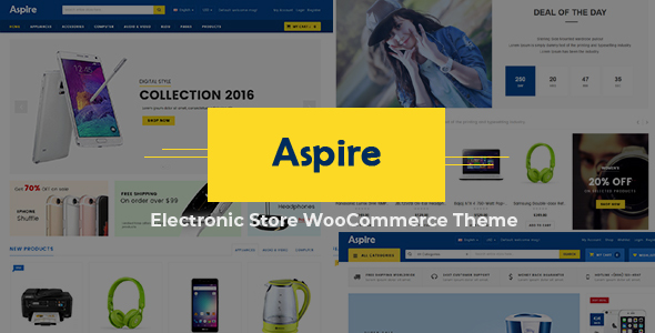 Aspire - Multipurpose Responsive WooCommerce WordPress Theme - WooCommerce eCommerce