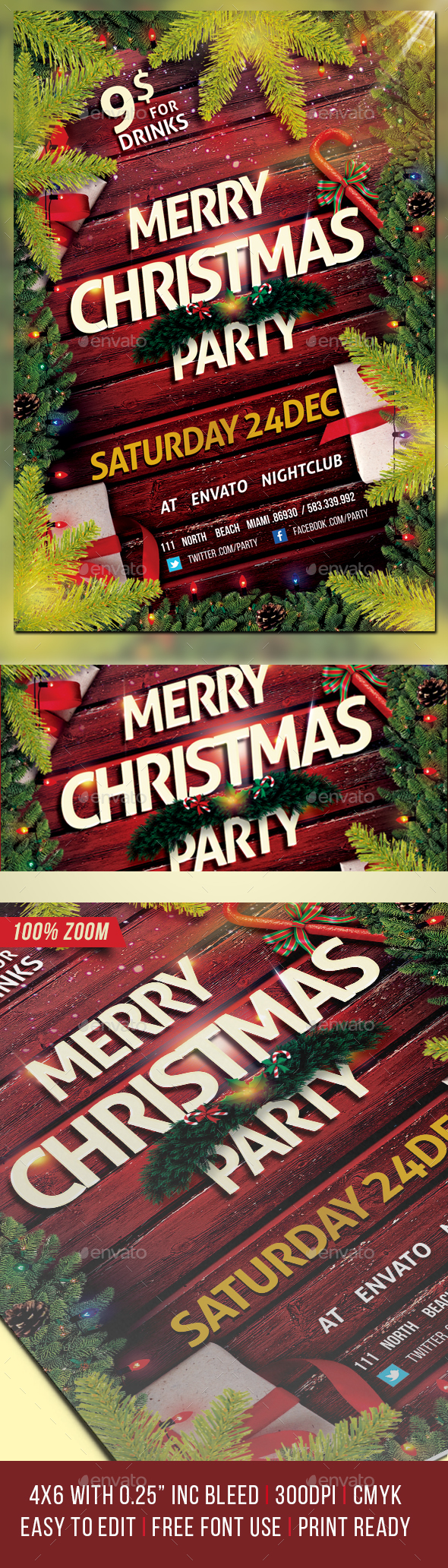 GraphicRiver Christmas Party Flyer Template 21027627