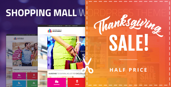 Shopping Mall - Entertainment & Shopping Center Business WordPress Theme
