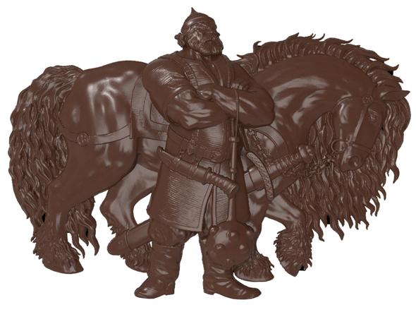 Ilya Murometz and his combat horse bas relief for CNC - 3DOcean Item for Sale