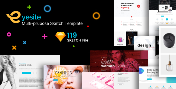 ThemeForest EYESITE MULTI-PURPOSE SKETCH TEMPLATE 20914556