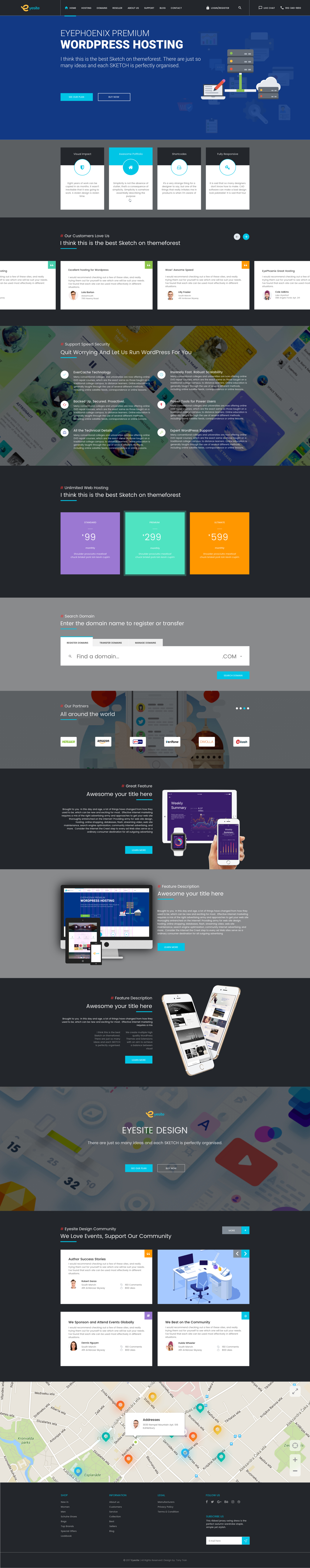 Stunning Hosting Templates Pictures Inspiration - Professional ...