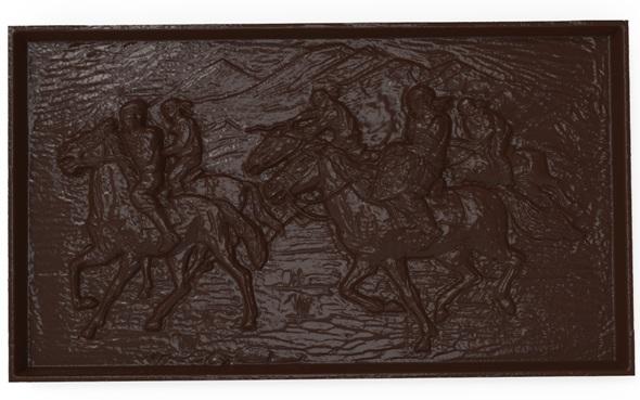 3DOcean Asian horsemen Bas relief for CNC 21027643