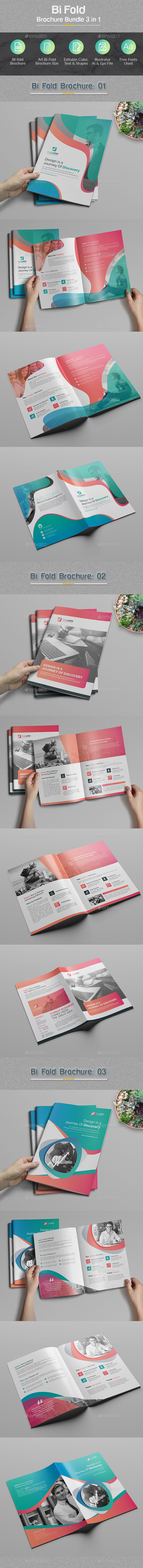 Bi-fold Brochure Bundle 3 in 1 - Corporate Brochures