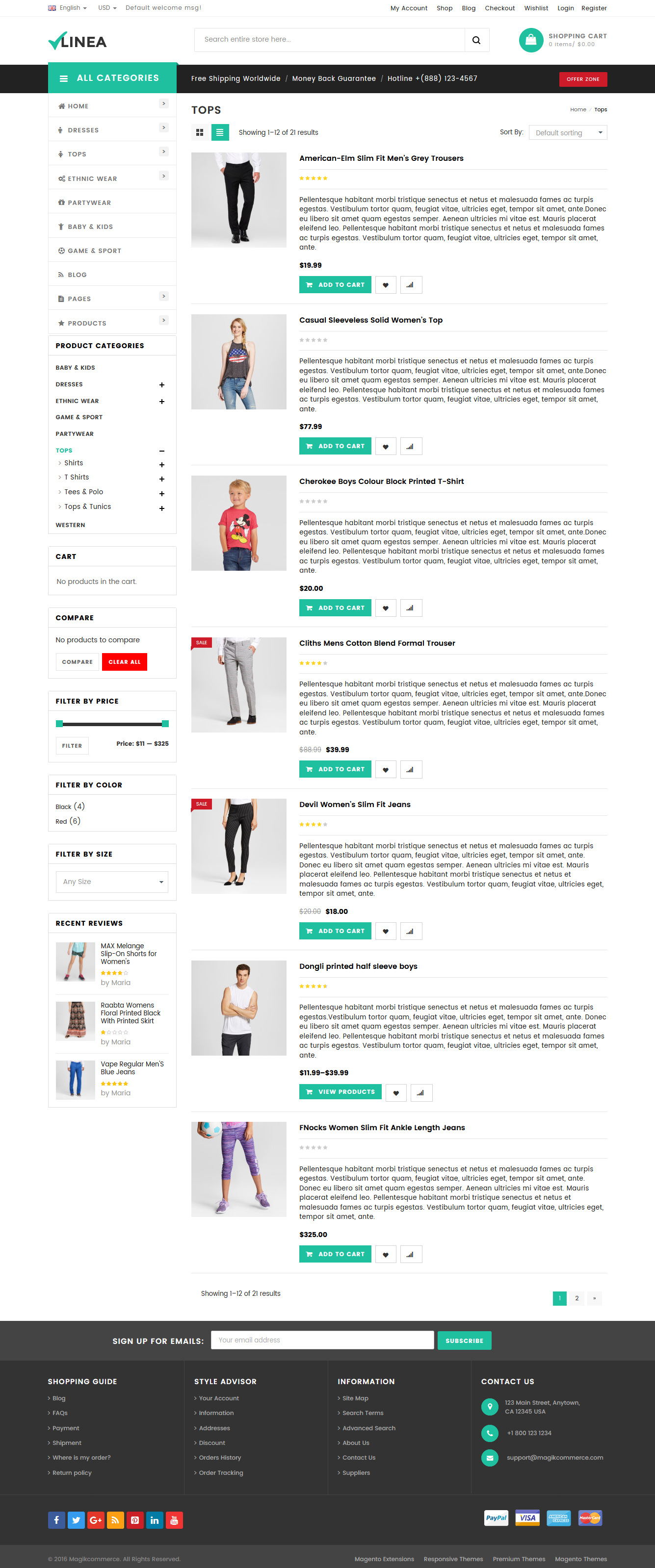 Linea - Clothing Store WooCommerce WordPress Theme by