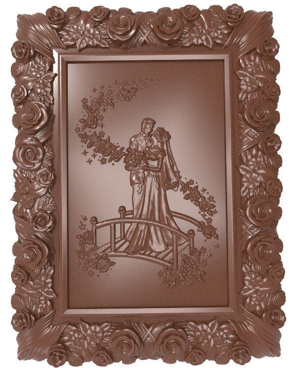Newlyweds (Just married) bas relief for CNC - 3DOcean Item for Sale