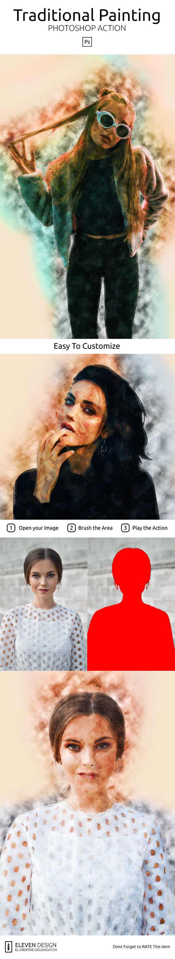 GraphicRiver Traditinal Painting Photoshop Action 20988239