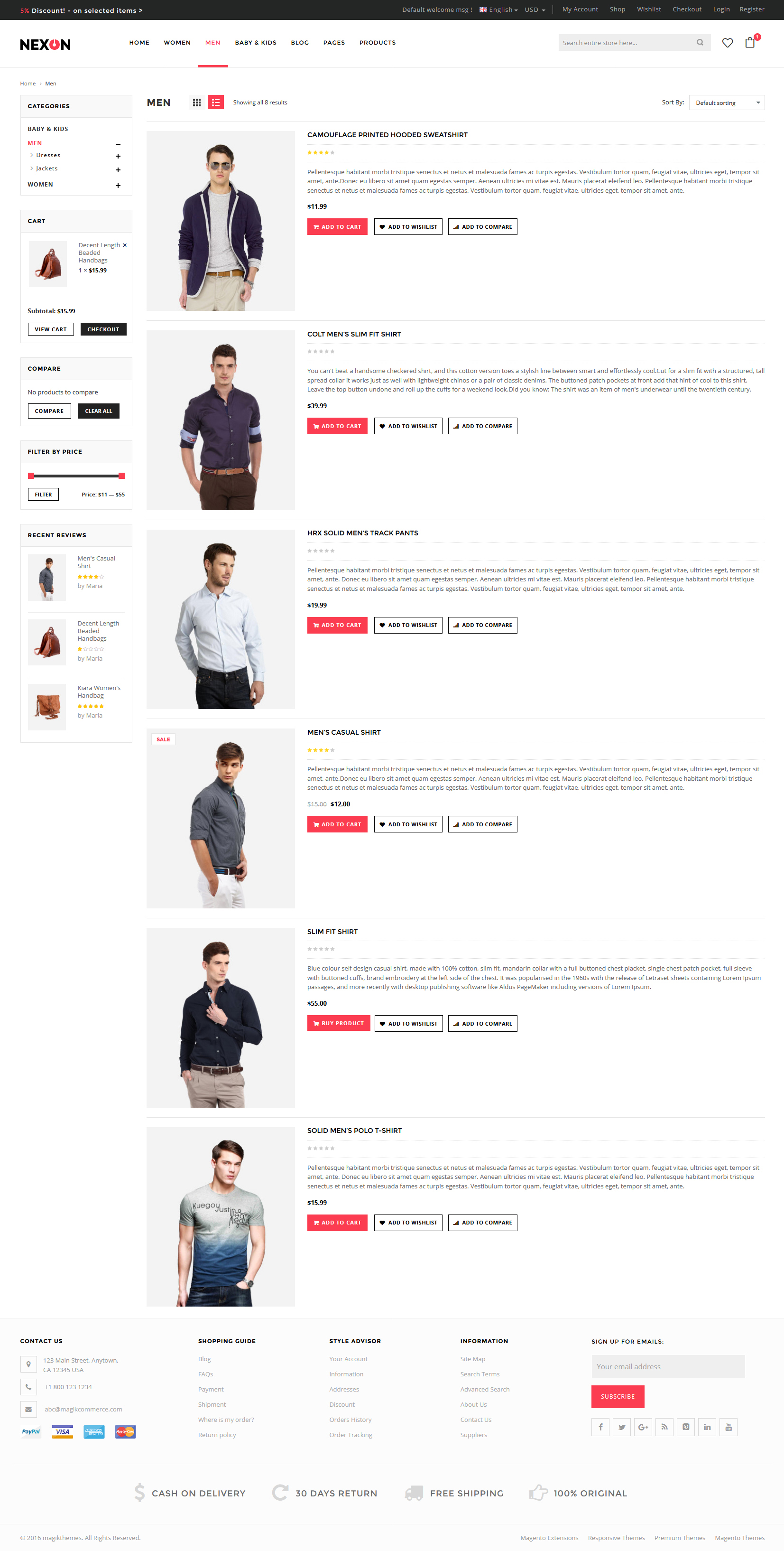 Nexon - Apparel Store Multipurpose Responsive WooCommerce WordPress Theme