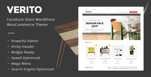 Verito - Furniture Store WooCommerce WordPress Theme