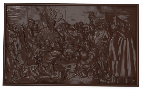 3DOcean Reply of the Zaporozhian Cossacks Bas relief 21027762